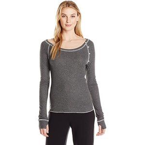 Honeydew Sleepover Raglan Sleeve Lounge Shirt Gray